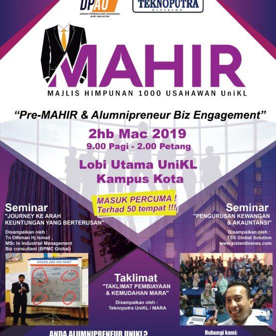Pre-MAHIR & Alumnipreneur Biz Engagement