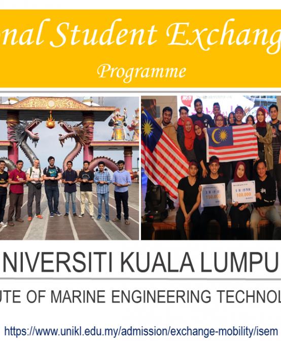 Application for INTERNATIONAL STUDENT EXCHANGE MOBILITY PROGRAMME (ISEM) 2020