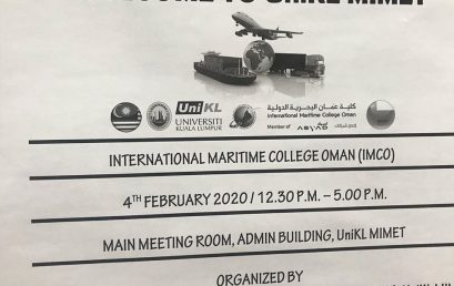 Working Visit by International Maritime College Oman (IMCO)