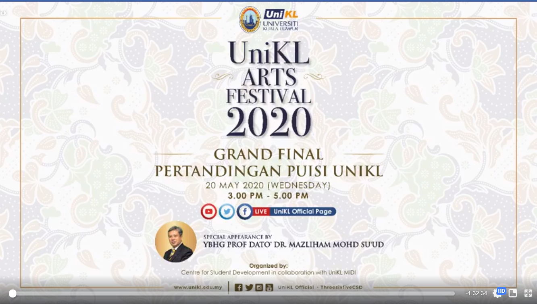 Grand Final Pertandingan Puisi UniKL via TEAMS